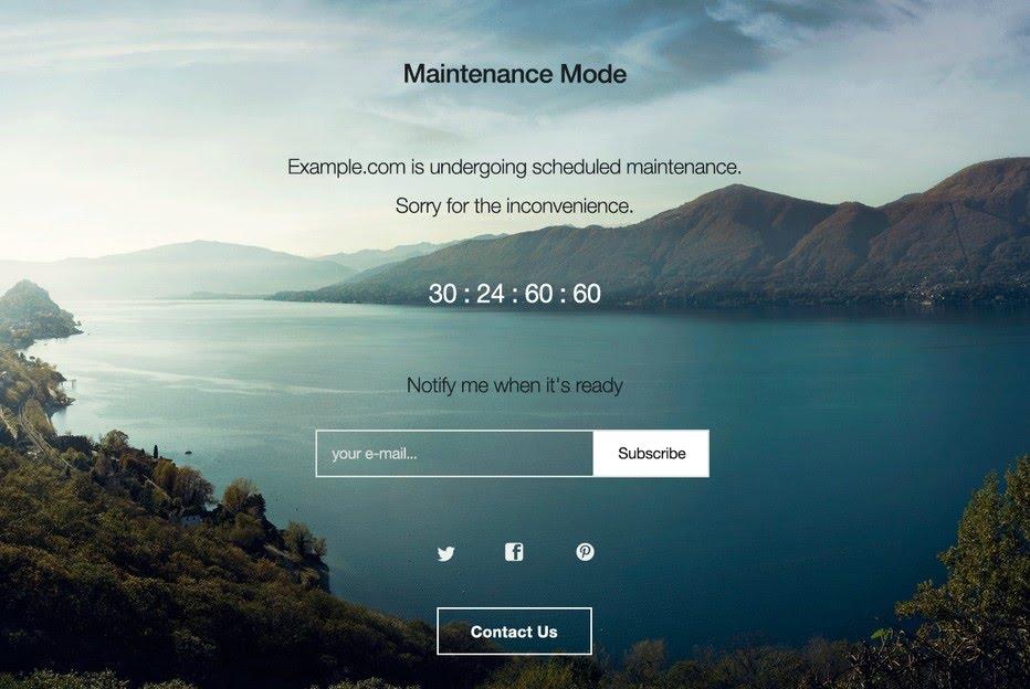 halaman maintenance