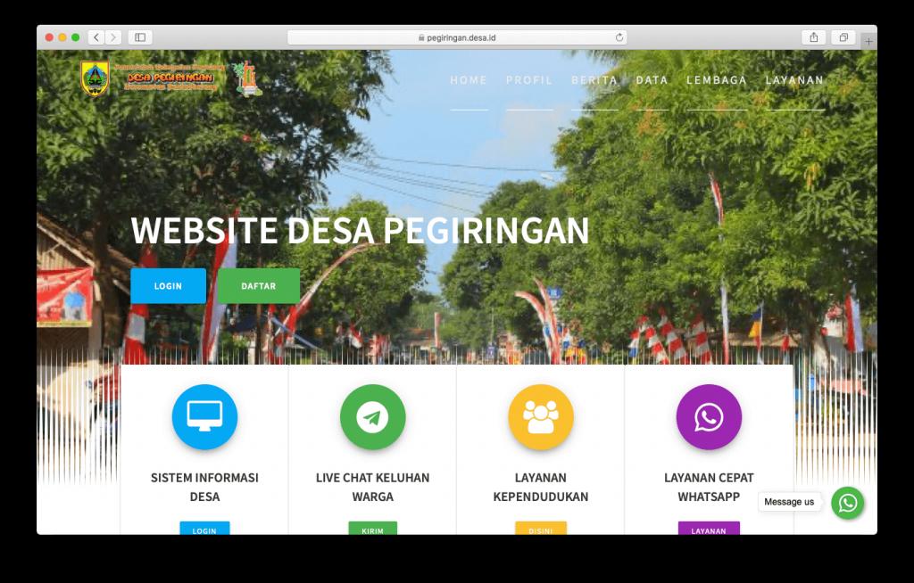 Website Desa Pegiringan